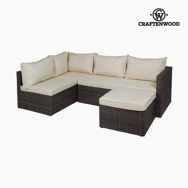 Sofa and Pouf Set (2 pcs) by Craftenwood