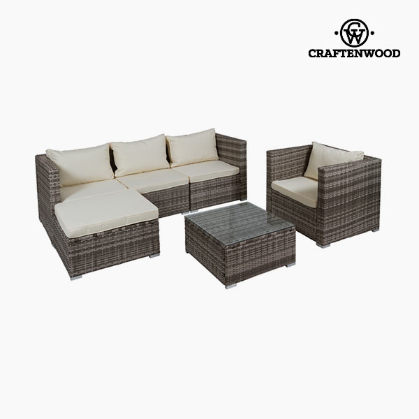 Sofa and table set (4 pcs) by Craftenwood