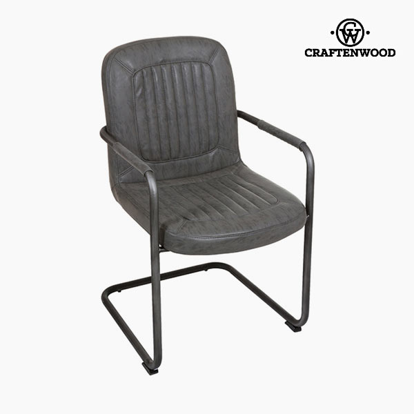 Chair with Armrests Polyskin Grey - Serious Line Collection by Craftenwood