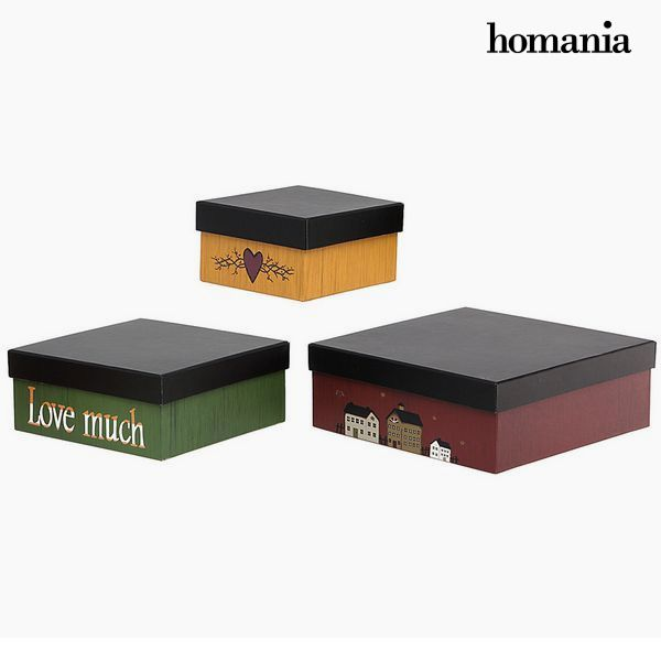 Decorative box Homanía 2649 (3 pcs) Squared