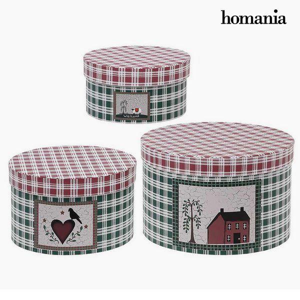 Decorative box Homania 7611 (3 uds) Carboard
