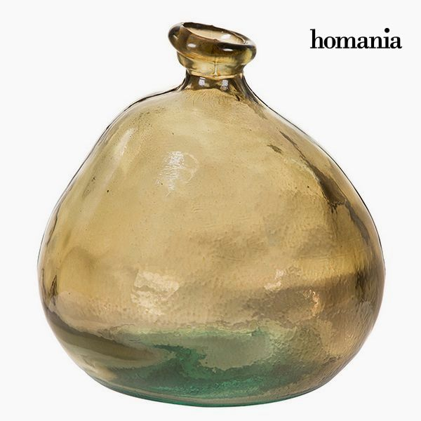 Vase made from recycled glass Brown - Crystal Colours Deco Collection by Homania