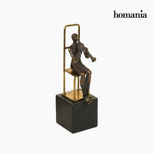 Decorative Figure Resin Gold Black (13 x 9 x 29 cm) by Homania