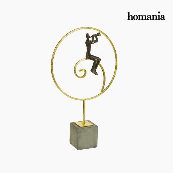 Decorative Figure Resin Gold Black (30 x 9 x 50 cm) by Homania