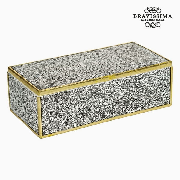 Box with cover Resin Grey (30 x 15 x 9,5 cm) by Homania