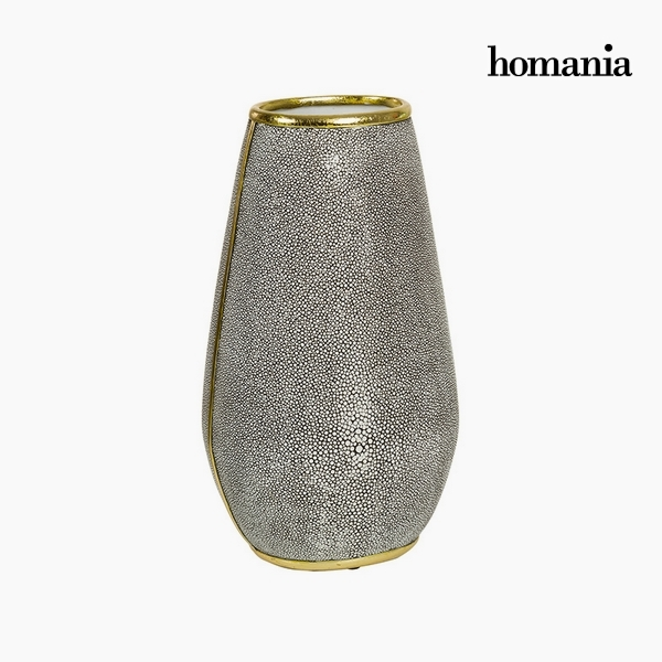 Vase Resin Pearl Gold (21 x 17 x 37 cm) by Homania