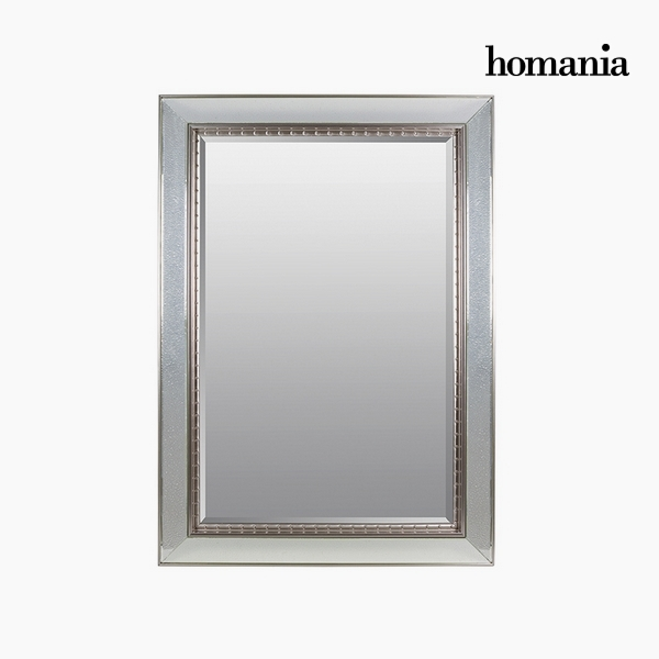 Mirror Synthetic resin Bevelled glass Silver (80 x 4 x 110 cm) by Homania