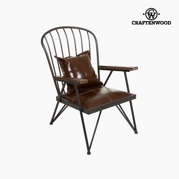 Armchair Dark brown Iron (71x 83 x 88 cm) by Craftenwood
