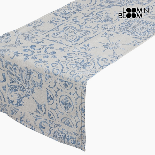 Table Runner Cotton and polyester Blue (135 x 40 x 0,05 cm) by Loom In Bloom