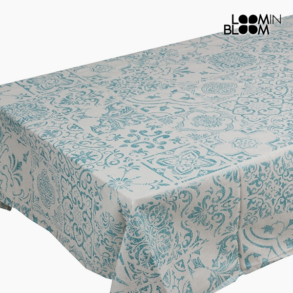 Tablecloth Cotton and polyester White Green (200 x 140 x 0,05 cm) by Loom In Bloom