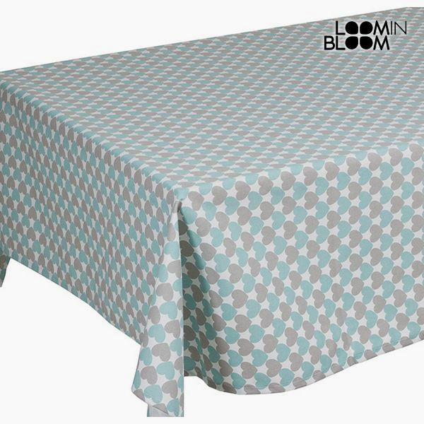 Tablecloth Grey Turquoise (200 x 0,5 x 140 cm) - Little Gala Collection by Loom In Bloom
