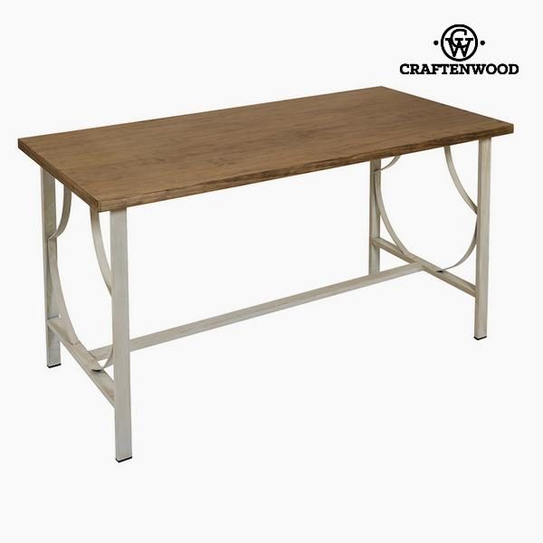 Desk Wood / ironwork Beige - Serious Line Collection by Craftenwood