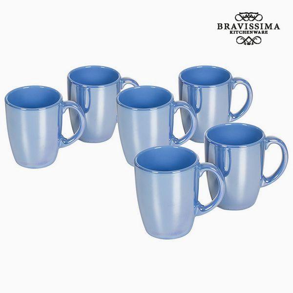 Set of jugs China crockery Blue (6 pcs) - Kitchen's Deco Collection by Bravissima Kitchen