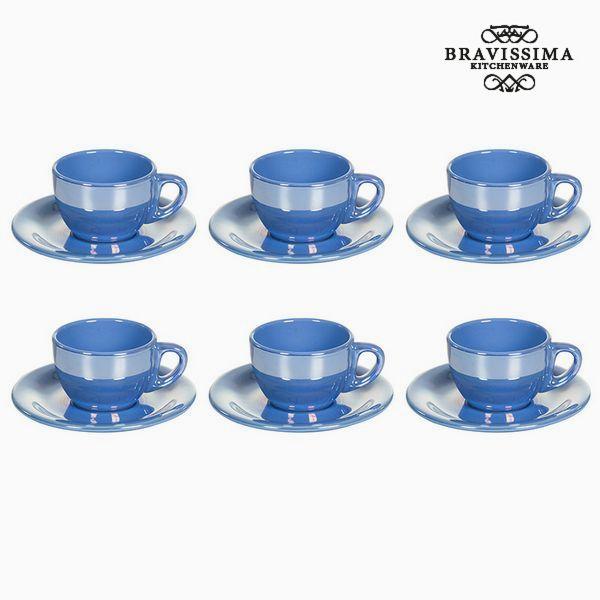 Tea set China crockery Blue (12 pcs) - Kitchen's Deco Collection by Bravissima Kitchen