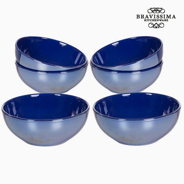 Set of bowls China crockery Navy blue (6 pcs) - Kitchen's Deco Collection by Bravissima Kitchen