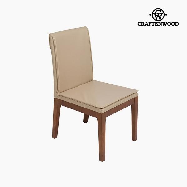 Chair Beige Polyskin (50 x 59 x 90 cm) by Craftenwood