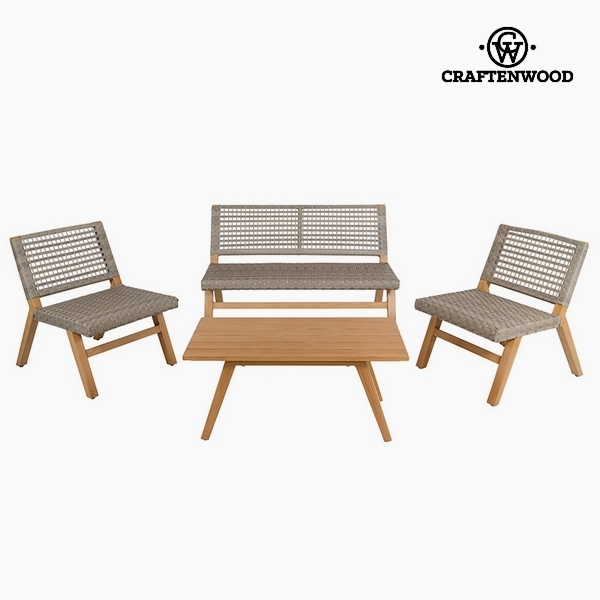 Garden furniture (4 pcs) Resin by Craftenwood
