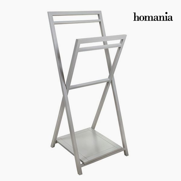 Free-Standing Towel Rack Acacia Grey by Homania