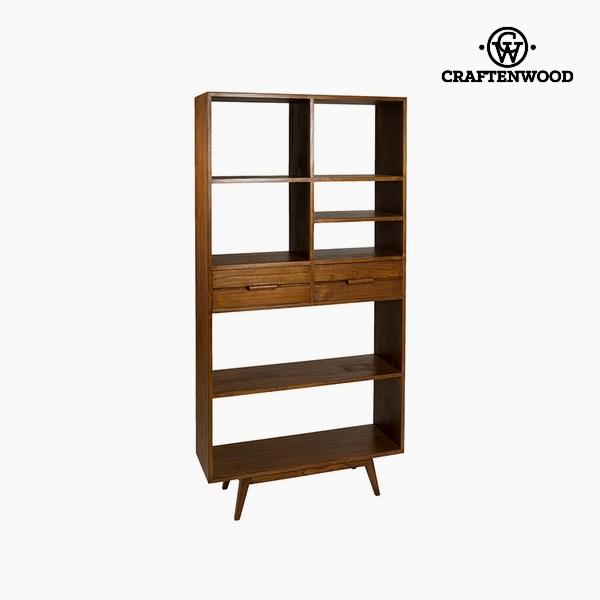 Shelves Mindi wood (7 shelves) (2 drawers) (90 x 40 x 180 cm) by Craftenwood