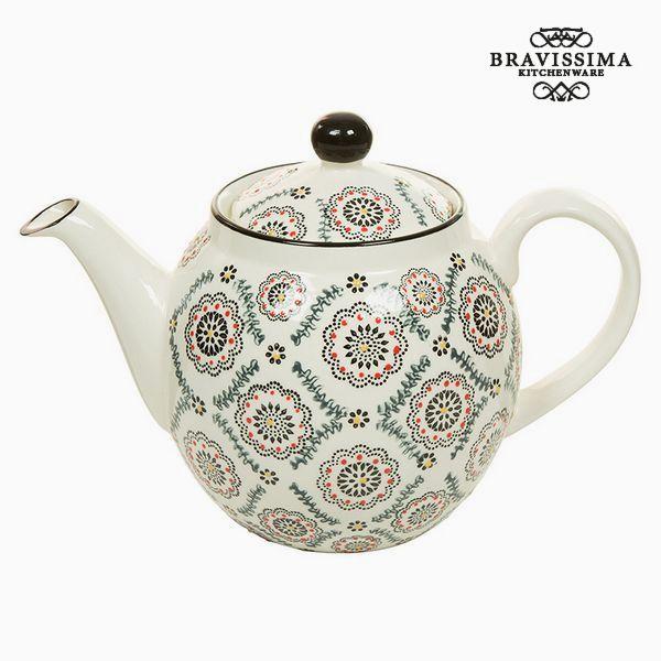 Teapot Magic Porcelain Printed (22 x 12 x 14 cm) - Kitchen's Deco Collection by Bravissima Kitchen