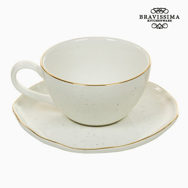 Cup with Plate - Queen Kitchen Collection by Bravissima Kitchen