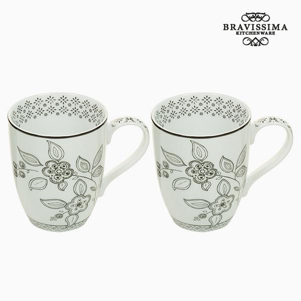 2 Piece Mug Set - Queen Kitchen Collection by Bravissima Kitchen