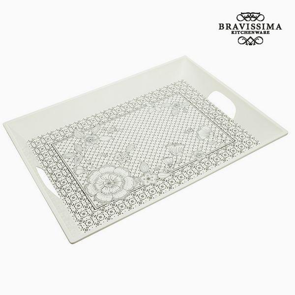 Tray Melamin White (52  x  39  x  4 cm) - Kitchen's Deco Collection by Bravissima Kitchen