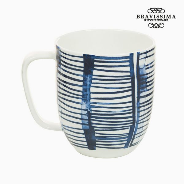 Cup Porcelain Stripes White - Kitchen's Deco Collection by Bravissima Kitchen