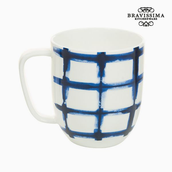 Cup Porcelain Squares White - Kitchen's Deco Collection by Bravissima Kitchen