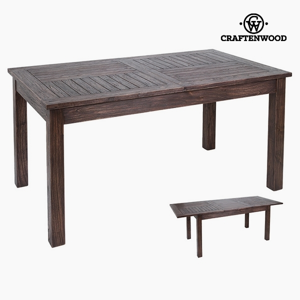 Expandable table Mindi wood (160 x 90 x 79 cm) by Craftenwood