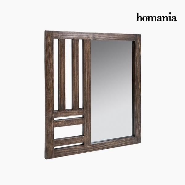 Mirror Mindi wood (70 x 3 x 80 cm) by Homania