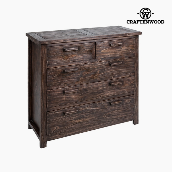 Chest of drawers Mindi wood (100 x 40 x 90 cm) by Craftenwood