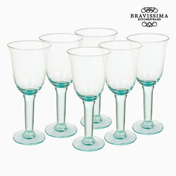 Recycled Wine Glasses Material Recycled glass (500 ml) - Queen Kitchen Collection by Bravissima Kitchen