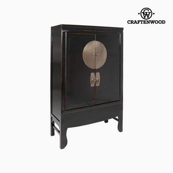 Cupboard Elm wood Black (108 x 49 x 172 cm) by Craftenwood