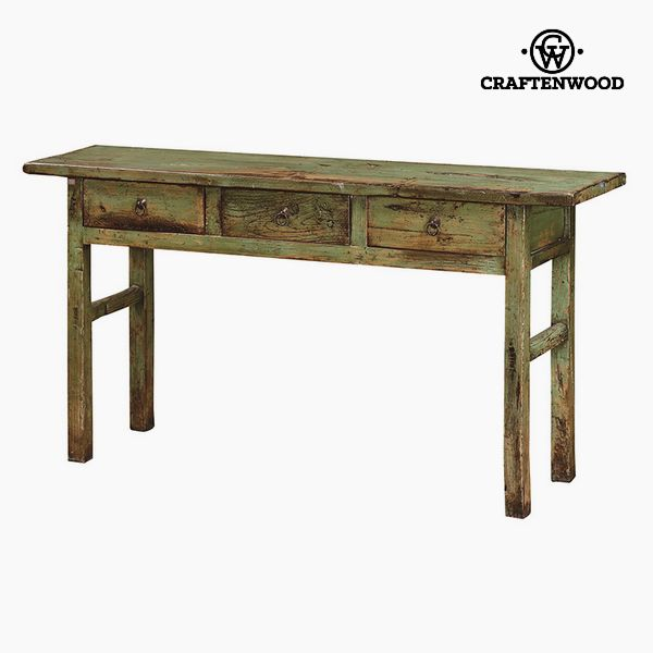 Hall Table with 3 Drawers Elm wood (169 x 40 x 87 cm) by Craftenwood