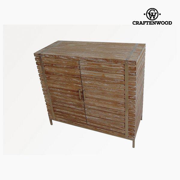 Sideboard Teak Steel (90 x 40 x 83 cm) - Village Collection by Craftenwood