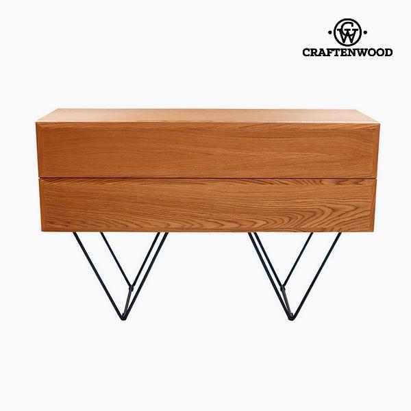 Sideboard Wood Mdf Walnut (120 x 40 x 76 cm) - Modern Collection by Craftenwood
