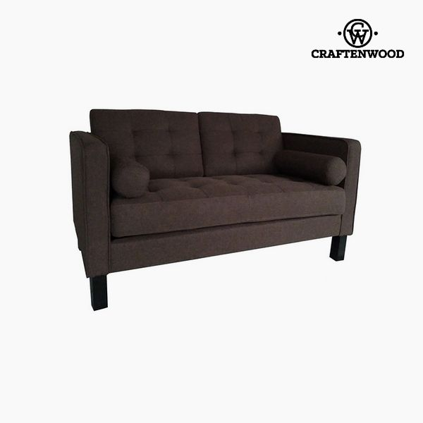2-Seater Sofa Pine Polyester Brown (149 x 81 x 81 cm) by Craftenwood