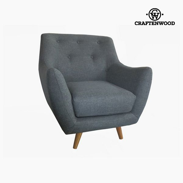 Armchair Polyester Grey (80 x 78 x 83 cm) by Craftenwood