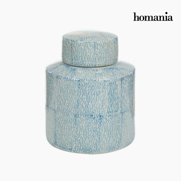 Tibor Stoneware Blue (18 x 18 x 22 cm) by Homania