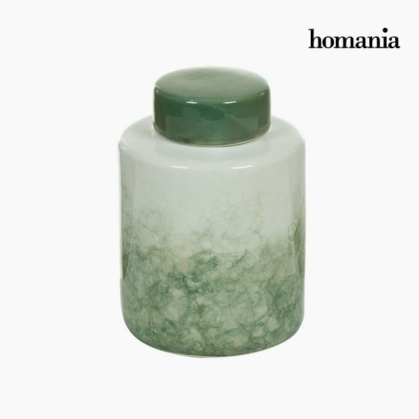 Tibor Stoneware Green (14 x 14 x 19 cm) by Homania