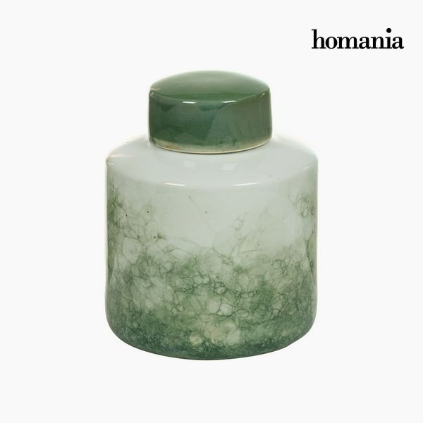 Tibor Stoneware Green (18 x 18 x 22 cm) by Homania