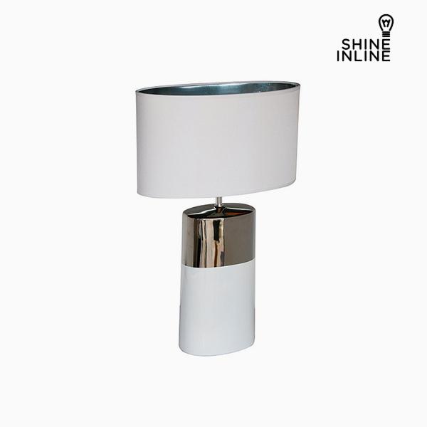 Desk Lamp Silver White (44 x 22 x 68 cm) by Shine Inline