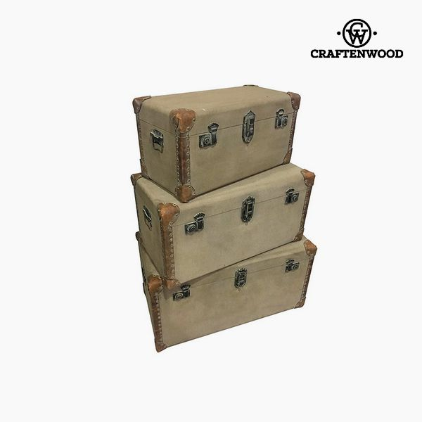 Set of Chests (3 pcs) Polyester (80 x 40 x 42 cm) by Craftenwood