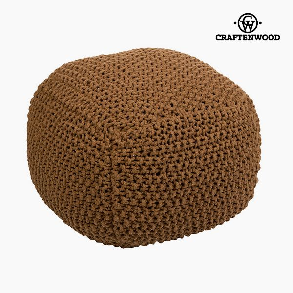 Puff Cotton Brown (50 x 50 x 40 cm) by Craftenwood