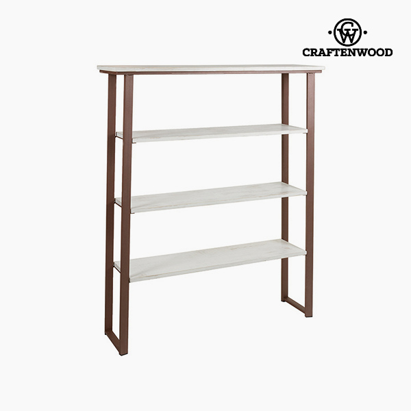 Shelves (4 shelves) Pine Forged steel (115 x 30 x 140 cm) by Craftenwood