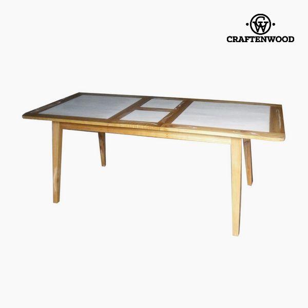 Expandable table Mindi wood (160 x 90 x 78 cm) by Craftenwood