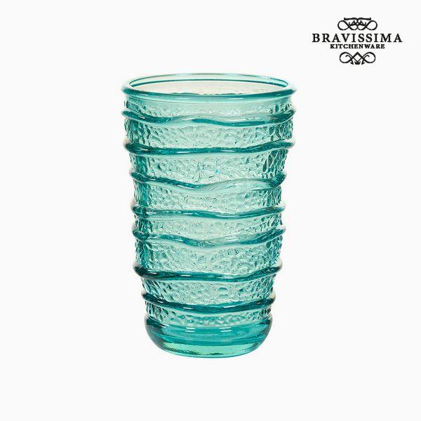 Recycled Glass Vase Turquoise (8 x 8 x 13 cm) by Bravissima Kitchen
