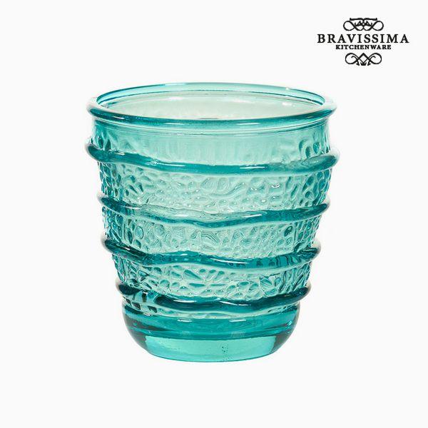 Recycled Glass Vase Turquoise (9 x 9 x 9 cm) by Bravissima Kitchen