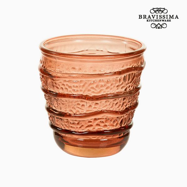 Recycled Glass Vase Coral (9 x 9 x 9 cm) by Bravissima Kitchen